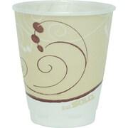 SOLO® Cup Company Trophy® Plus Dual Temperature Insulated Cups in Symphony® Design, 8 oz, Tan, Foam, 100/Pack (X8-J8002)