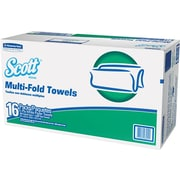 "Scott® Multifold Paper Towels, 250 Sheets/Pack, 16 Packs/Case, White, Unscented, 9 2/5"" x 9 1/5"", 1-Ply, 4000/Carton (8009)"