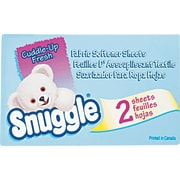 Snuggle® Fabric Softener Sheets, Fresh Scent, 2 Sheets/Bx, 100 Boxes/Ct