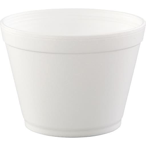 Dart® J cup® Round Insulated Foam Food Containers, 16 oz., White, 500/Carton (16MJ32)