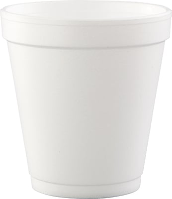 Dart Conex Hot/Cold Foam Drinking Cups, 10 oz, White, Foam, 1000/Carton (10J12) DCC10J12