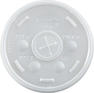 Dart Plastic Cold Cup Lids, Translucent, Plastic, 1000/Carton (10SL) DCC10SL