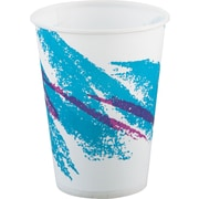 SOLO® Cup Company Jazz® Waxed Paper Cold Cups, 9 oz, Tide, Wax-Coated Paper, 2000/Carton (SCC R9NJ)