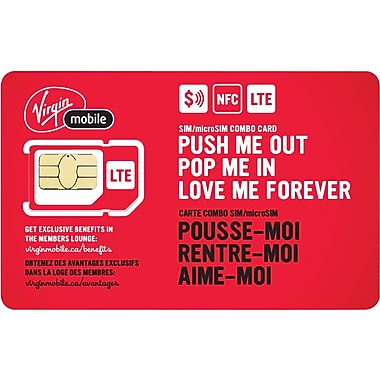 Virgin Mobile NFC SIM/Micro SIM Combo Card