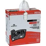 "Brawny Industrial Lightweight Shop Towel, 9 1/10"" x 12 1/2"", White, 2000/Ct"