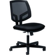 "HON Volt® Ergonomic Mid-Back Task Chair, Mesh/Fabric, Black, Seat:19.25"" W X 18.75"" D, Back: 18"" W X 18.75"" H NEXT2017"