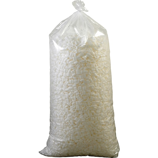 Partners Brand Environmentally Friendly Loose Fill Packing Peanuts, 7 Cubic Feet, White (7NUTSB)