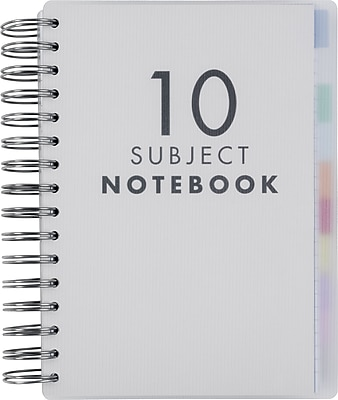 Paperchase 10 Subject Clear Poly Notebook, 6