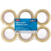 "Staples® Packing Tape, 3"" Core, Clear, 1.88"""" x 109.4 Yards, 6/Pk"