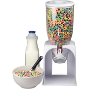 Single Cereal Dispenser, White