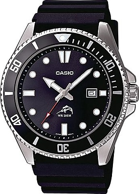 Casio® MDV106-1AV Men's Analog Duro 200M Dive Wrist Watch, Silver