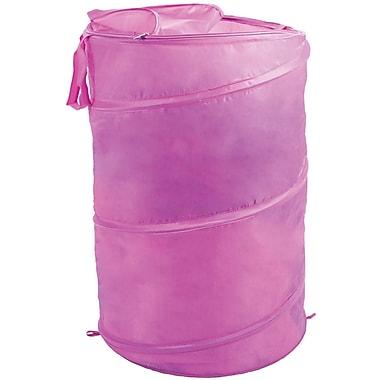 Lavish Home Breathable Pop Up Laundry Clothes Hamper, Pink
