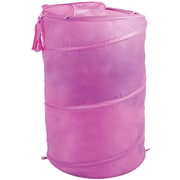 Lavish Home Breathable Pop Up Laundry Clothes Hamper, Pink