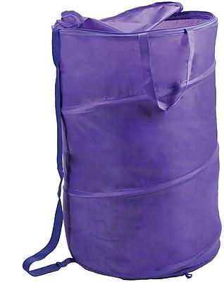Lavish Home Breathable Pop Up Laundry Clothes Hamper, Purple