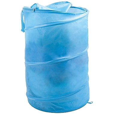 Lavish Home Breathable Pop Up Laundry Clothes Hamper, Light Blue