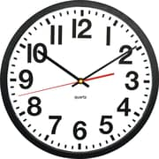 "Victory Light Black Casing Quartz 13"" Wall Clock (TC6236RF)"