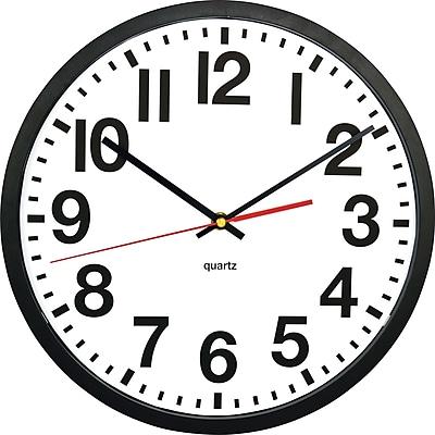 TEMPUS Quartz Wall Clock, Plastic 13