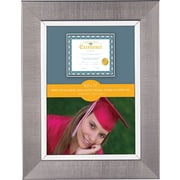 "V-Light Metallic Silver Linen Texture Frame, 8 1/2"" x 11"""