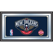 "Trademark NBA 15"" x 27"" x 3/4"" Wooden Logo Framed Mirror, New Orleans Pelicans"