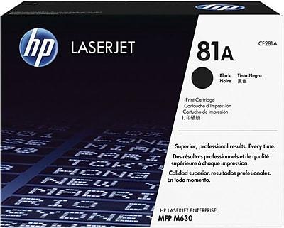HP 81A Black LaserJet Toner Cartridge, (CF281A)