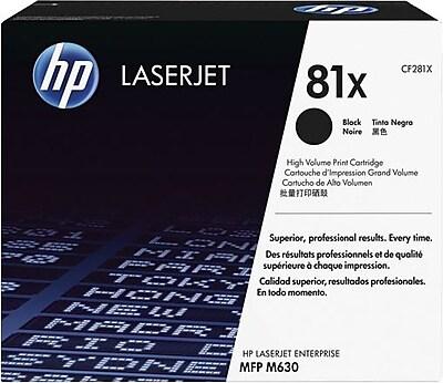 HP 81X Black LaserJet Toner, (CF281X), High Yield