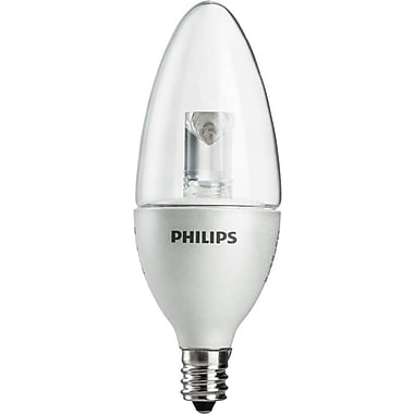Philips 3 Watt B11 LED Candle Light Bulb, Soft White, Dimmable
