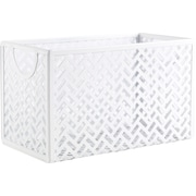 Staples® White Zigzag Storage Box (26845)