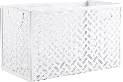 Staples Metal Storage/Document Box, White (26845)