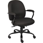 Boss Heavy Duty Fabric Computer and Desk Office Chair, Adjustable Arms, Black Crepe (B670-BK)