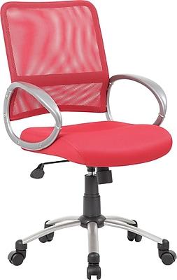 Boss Mesh Back Task Chair; Red