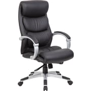 Boss Fabric Executive Office Chair, Adjustable Arms, Black (B8881)