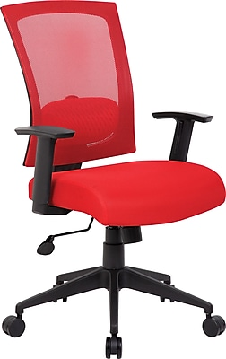 Boss® Mesh Task Chair, B6706 Series, Red