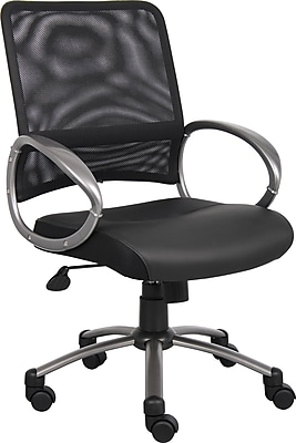 Boss Professional Mesh Managers Office Chair, Fixed Arms, Black (B6406)