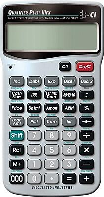 Calculated Industries Qualifier Plus IIIFX® 3430 Real Estate Calculator