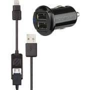 Scosche I2MC242M strikeDRIVE Pro 12W + 12W Car Charger for Lightning and Micro USB Devices