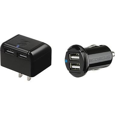 Scosche reVIVE hc2 Dual 5 Watt USB Wall and Car Chargers