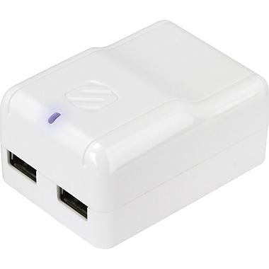Scosche – Chargeur mural USB double reVOLT h2, blanc