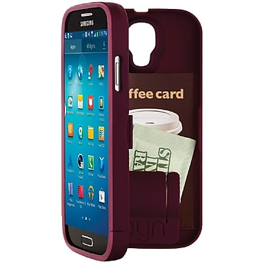 EYN Smartphone Case for Samsung Galaxy S4 with Hidden Storage, Syrah