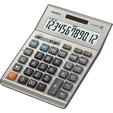 Casio® DM-1200BM 12-Digit Solar Profit Tax Calculator