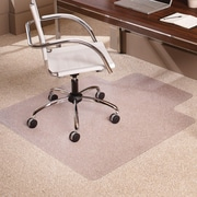 """ES Robbins Everlife Chairmat, Office, Home, School, Indoor, 60"""" L x 46"""" W x 0.38"""" Thickness Overall, 25"""" L x 12"""" W Lip, Clear"""