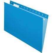 "Pendaflex Essentials Color Hanging Folders, Legal, 8.50"" Width x 14"" Length Sheet Size, 1/5 Tab Cut, Blue, 25/Box (PFX81623)"