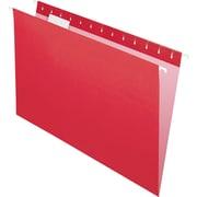 "Pendaflex Essentials Color Hanging Folders, Legal, 8.50"" Width x 14"" Length Sheet Size, 1/5 Tab Cut, Red, 25/Box (PFX81628)"
