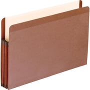 "Pendaflex Recycled Vertical File Pockets, Legal, 8.5"" W x 14"" L Sheet Size, 3.5"" Expansion, Red Fiber, Red Fiber, 10/Box"