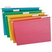 "TOPS Recycled 15 Cut Hanging Folders, Letter, 8.50"" Width x 11"" Length Sheet Size, 15 Tab Cut, Stock, Assorted, 20Box"