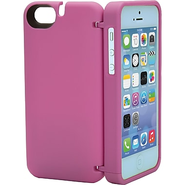 EYN Smartphone Case for iPhone 5C with Hinged Storage Back, Orchid