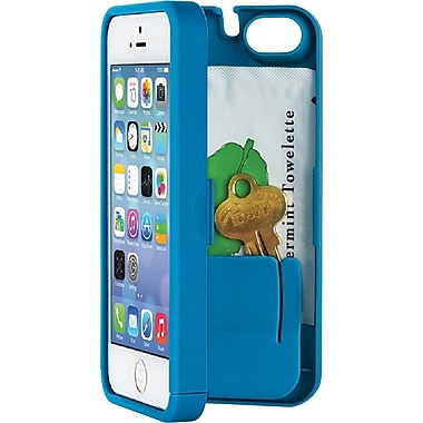 EYN Smartphone Case for iPhone 5C with Hinged Storage Back, Turquoise