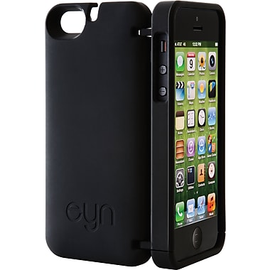 EYN Smartphone Case for iPhone 5C with Hinged Storage Back, Black