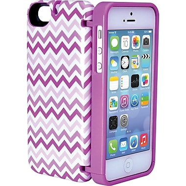 EYN Smartphone Case for iPhone 5/5S with Hinged Storage Back, Chevron