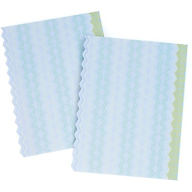 Gartner Studios Customizable Design Paper, Zig Zag Blue + Green, 50/Pack