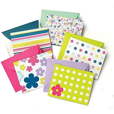 Gartner Studios All Occasion Blank Note Cards + Matching Envelopes, Assorted Pattern